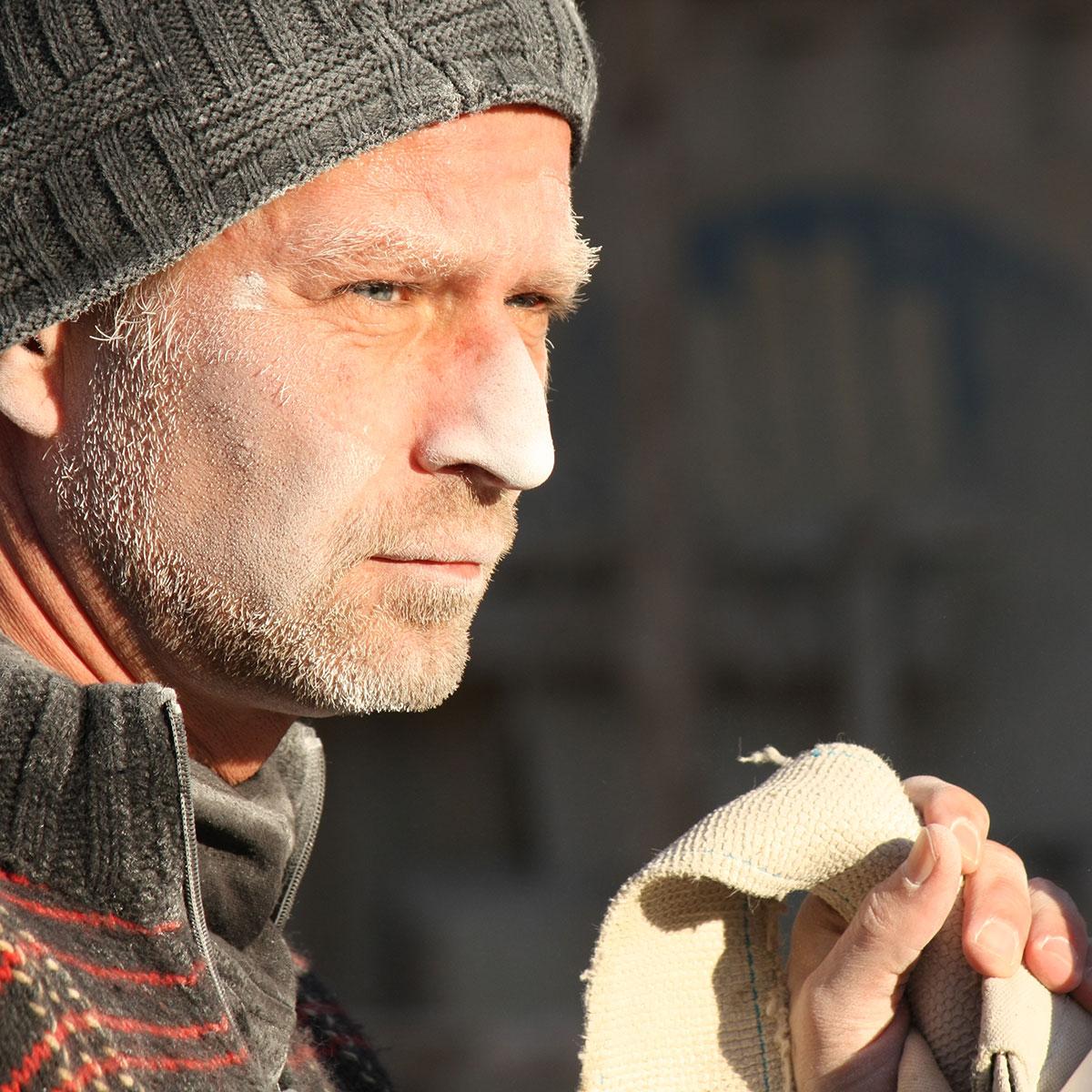 Dirk Wilhelm bei der Arbeit