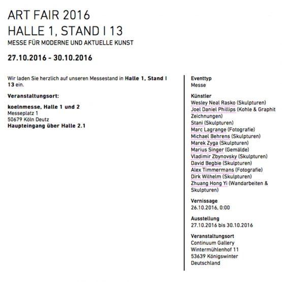 Dirk Wilhelm auf der Art Fair